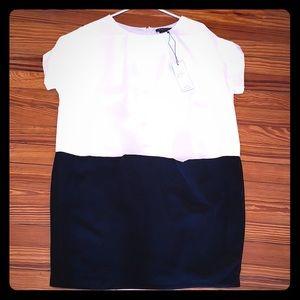 BCBGMaxAzria Cream & Black Dress Size Medium NWT